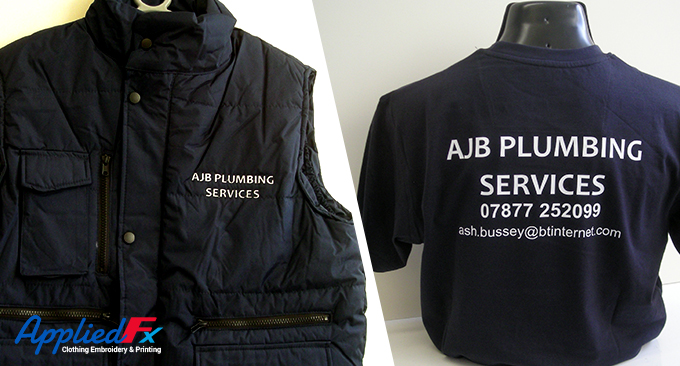 AJB Plumbing navy uniform